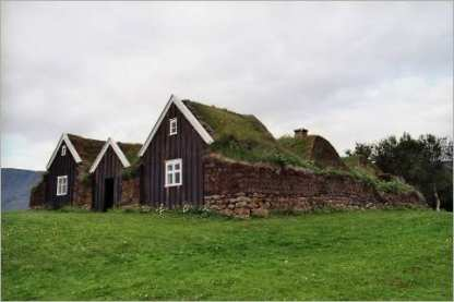 Traditional Passive Houses In Iceland